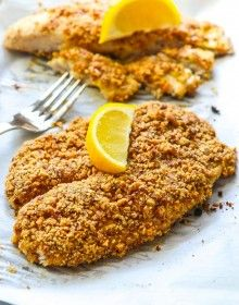 Almond Crusted Tilapia with Homemade Tatar Sauce