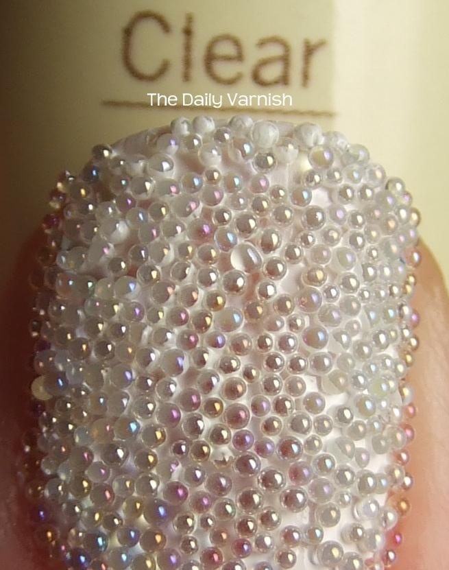 Clear Caviar Manicure MACRO! DIY not the Sephora one! i feel like this would get annoyinggggggggg.