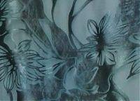 Шелковый атлас-деворе светло-синего морского цвета