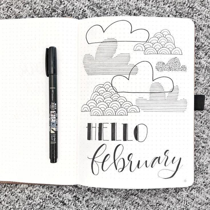 Cloud Doodles Bullet Journal | journaling | Bullet journal