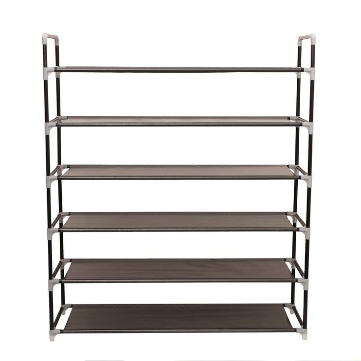 """Newdora 6 Tiers Shoe Rack Fabric Shoe Tower Organizer Super Space Saving Shoe Cabinet Entryway Closet Stackable Shelves - Holds 20-25 Pairs Of Shoes - 34"""" x 10.63"""" x 41.33"""""""