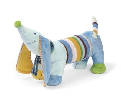 A big woofy hello from a cheeky, happy and HUGE doggy from Happy Horse. He is a cracking 40cm long with the snugly ears and is made from knitted and soft fabrics. And he's machine washable!
