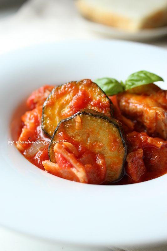 いつもの食卓を少し特別に レシピサイトNadia / フライパンで簡単☆チキンとズッキーニのトマト煮