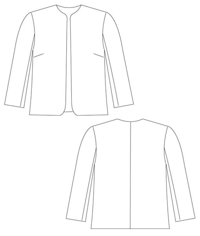 Sewing Pattern Jacket Coco - would look great in embellished fabric or a brocade