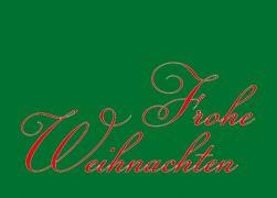 Rot auf gruen - Weihnachtskarten Geschäftlich