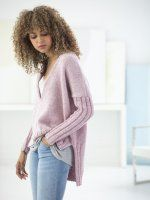 Свободный пуловер асимметричный. О.п.