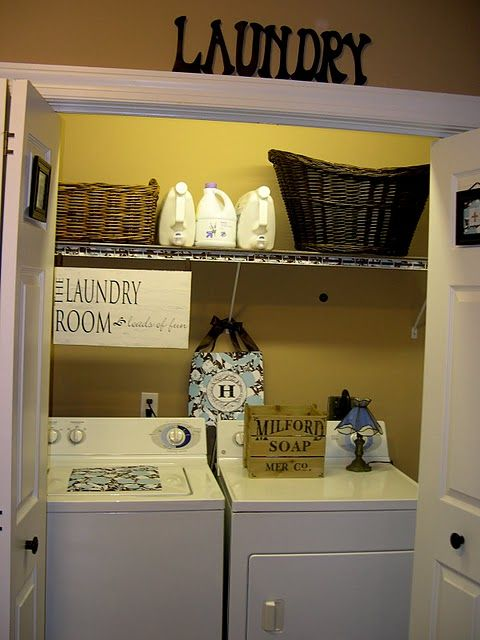 my laundry closet CAN look cute!  It may become my next decorating project.