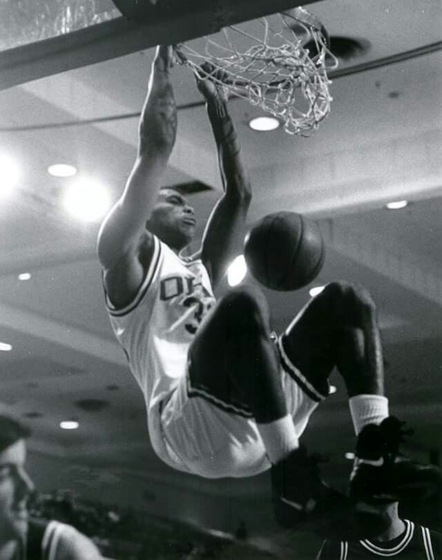 With the 11th pick in the 1995 NBA Draft, the Milwaukee Bucks selected Ohio University Men's Basketball power forward GARY TRENT. #BleedGreen
