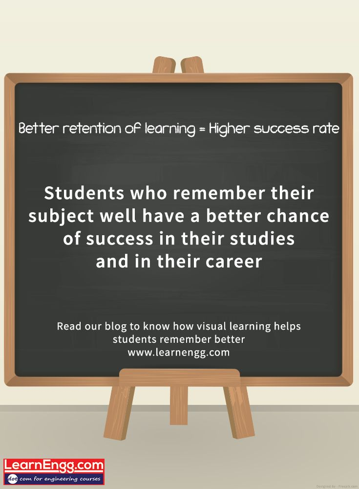 Students who remember their subject well have a better chance of success in their studies and in their career. Read our blog to know how visual learning helps students remember better: [Click on the image] #learnengg #video #visuallearning #3dm