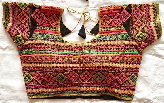 Designer Readymade Beige Party Wedding Wear New Art Silk Black Saree Stitched Blouse Crop Sari Top Mirror Work For Women