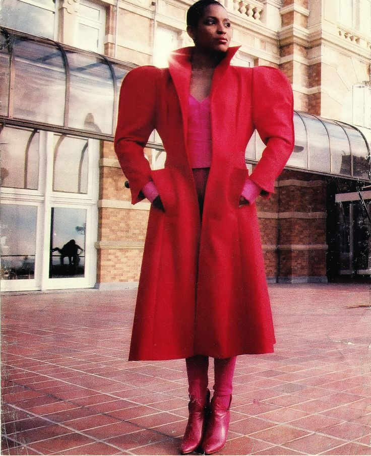 Puck & Hans coat, top and pants, published in Avenue magazine 1975