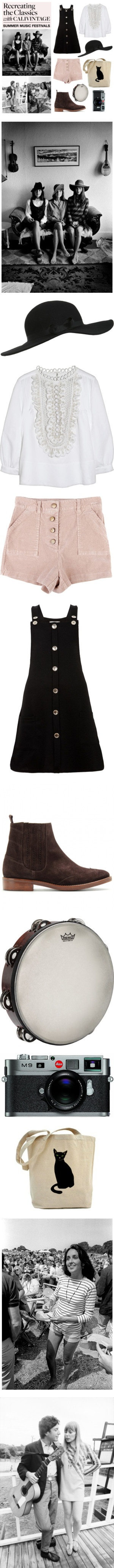 """""""calivintage Recreates the Classics: Summer Music Festivals"""" by calivintage ❤ liked on Polyvore"""