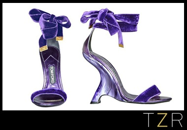 Tom Ford Violet Velvet Ribbon Sandals - do not ever follow search terms you find coming into your website or you'll find something like this.
