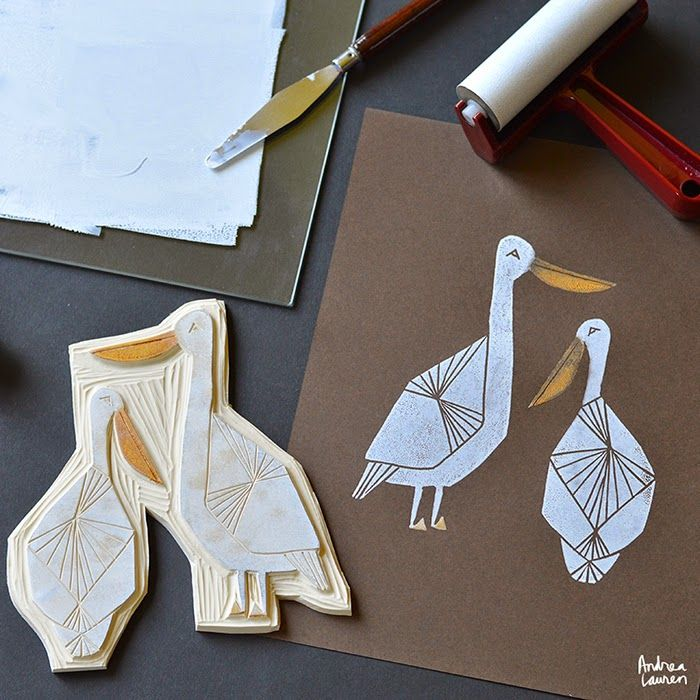 Bird Block Print Stamps by Andrea Lauren - Crafting By Holiday