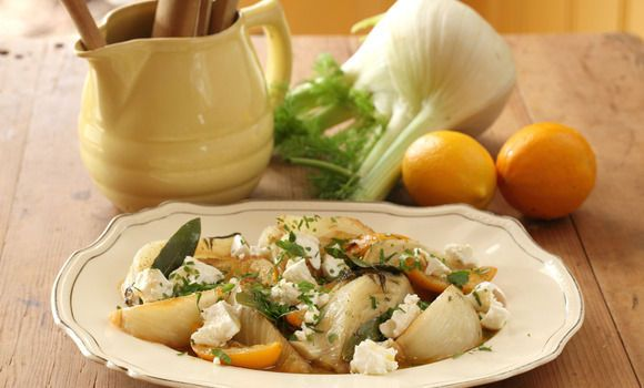 Maggie Beer's Fennel with Goat�s Curd and Verjuice