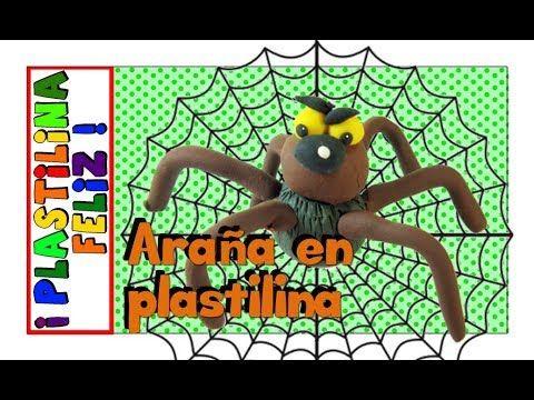 Araña en plastilina