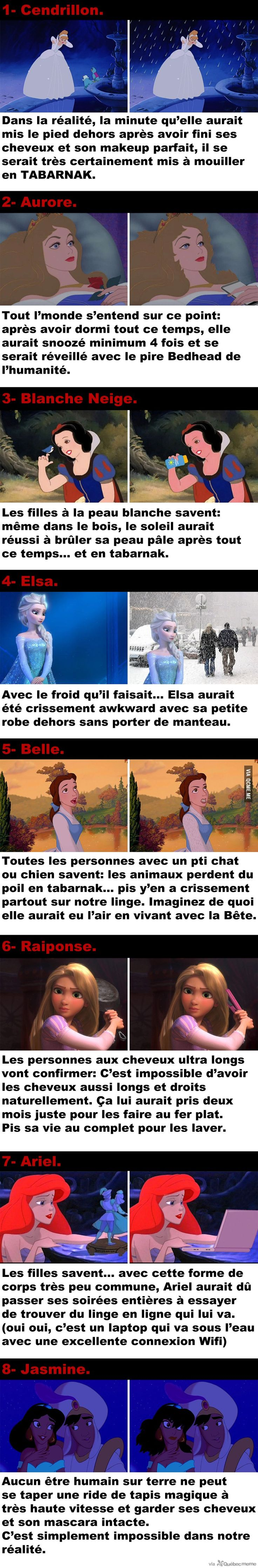 Si les Princesses de Disney vivaient dans notre réalité – Québec Meme +