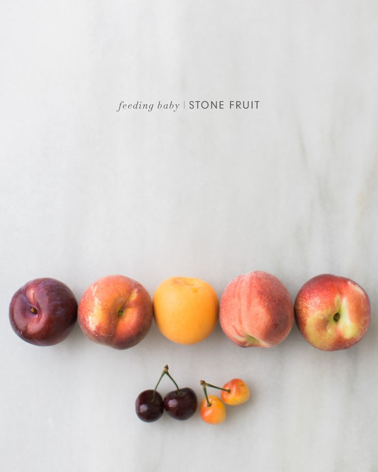 Feeding Baby Peaches, Plums, Nectarines, Pluots, Apricots, Cherries - lots of unique homemade baby food recipes and ideas