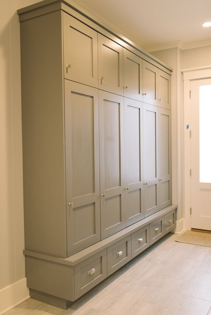 Locker room bathroom design - Mudroom Lockers Four Chairs Furniture