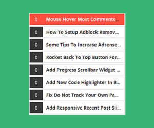 How to add mouse hover most commented posts widget in Blogger - Comments are very important for every blogger, because with the help of comments bloggers are easily know about his content.