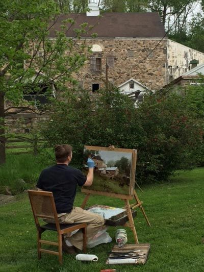 mark boedges - (wow, he works big en Plein air!)