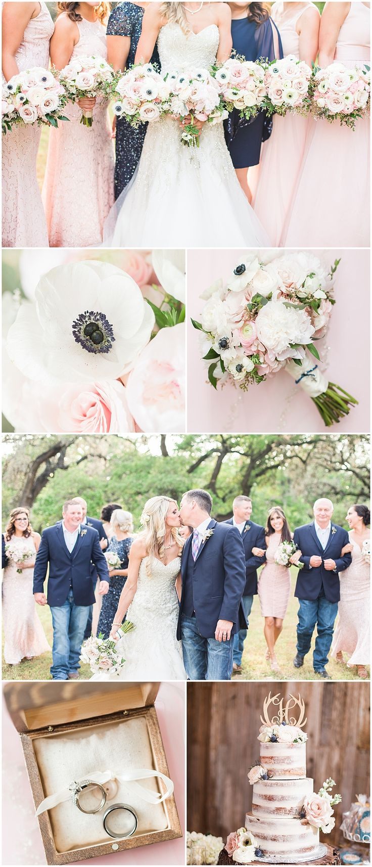 blush navy and gold wedding at Sisterdale dance hall in Boerne Texas by Allison Jeffers Wedding Photography 0127