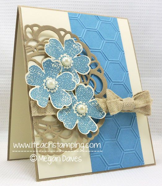 how to make an all occasions card, stampin up flower shop