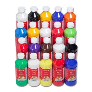 Reeves Ready Mix Tempera Poster Paint 20x500ml Assortment Pack