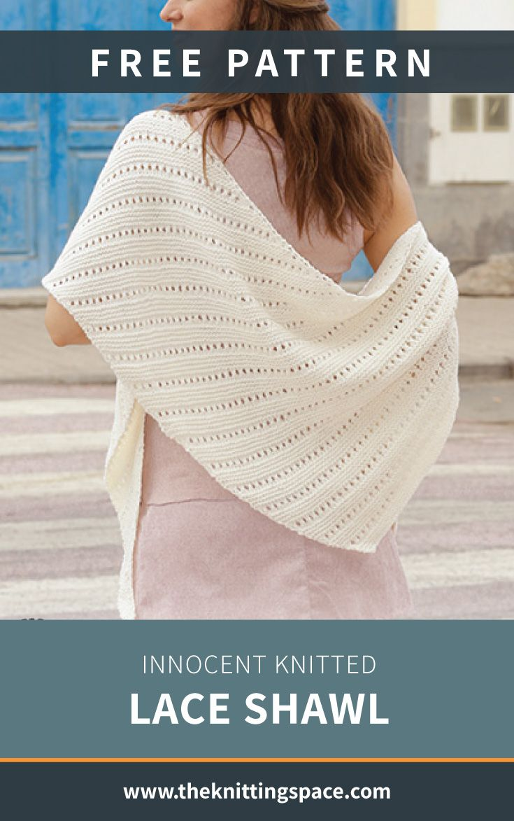 Create This Chic And Versatile Knitted Lace Shawl In Time
