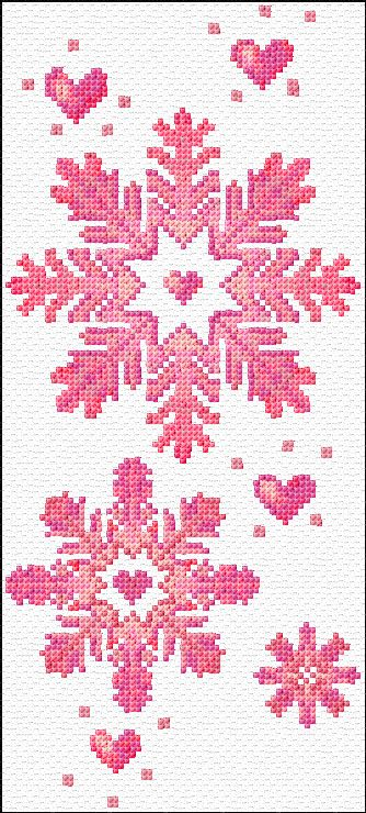 snow flakes free cross stitch pattern by ann logan