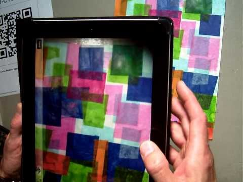 How to upload 2D art work to Artsonia with new iPad app student upload setting - YouTube Video tutorial for students