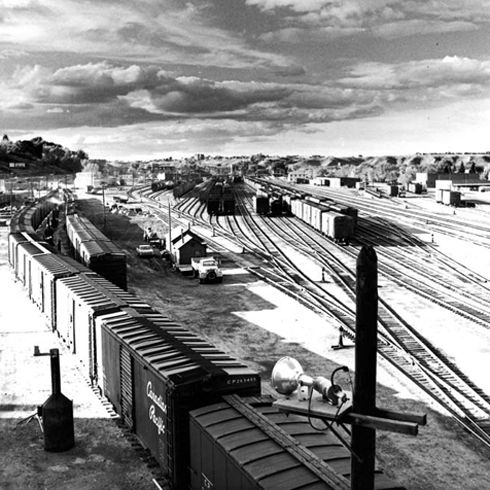 Medicine Hat Rail Yard & Roundhouse 1960s