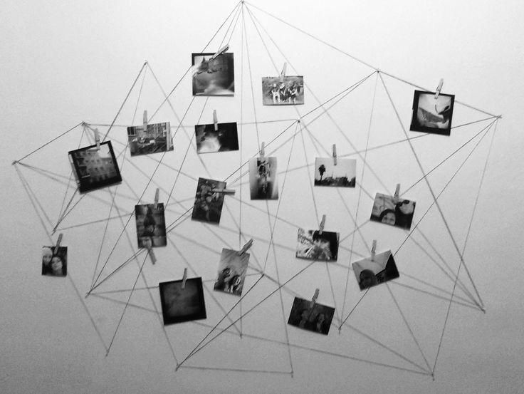 Фото на стене  | Фото декор стен, Фото на веревке, Фото стены