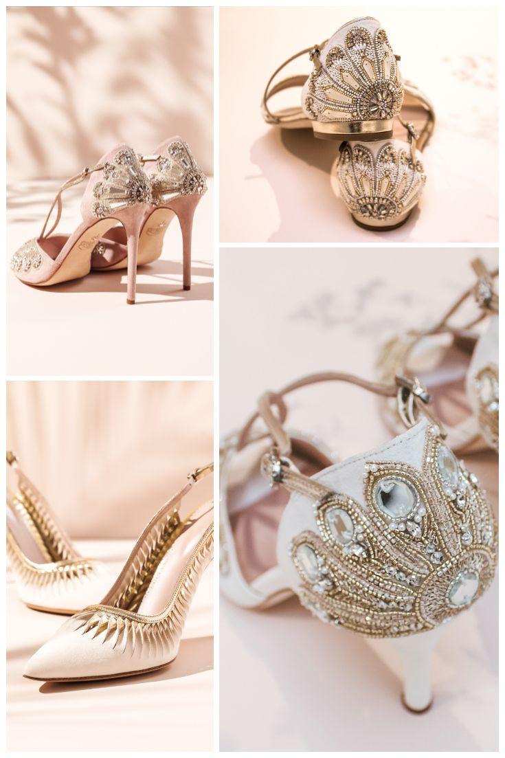 Emmy London Bridal Shoes Close Up Beautiful Embellished Shoes