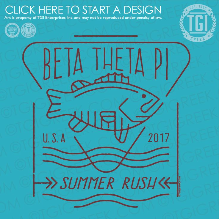 Beta Theta Pi | Beta | ΒΘΠ | Summer Rush | Fraternity Rush | TGI Greek | Greek Apparel | Custom Apparel | Fraternity Tee Shirts | Fraternity T-shirts | Custom T-Shirts