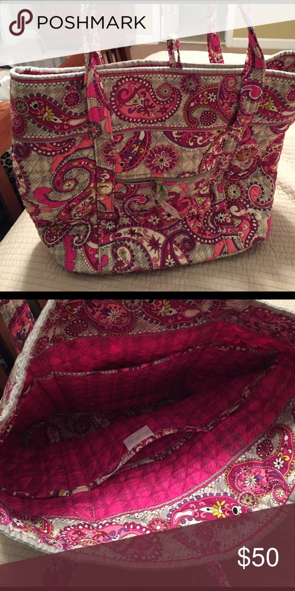 Vera Bradley tote bag Never used, pink paisley Vera Bradley tote bag. Good as a book bag or for travel.  Non smoking home. Vera Bradley Bags Totes