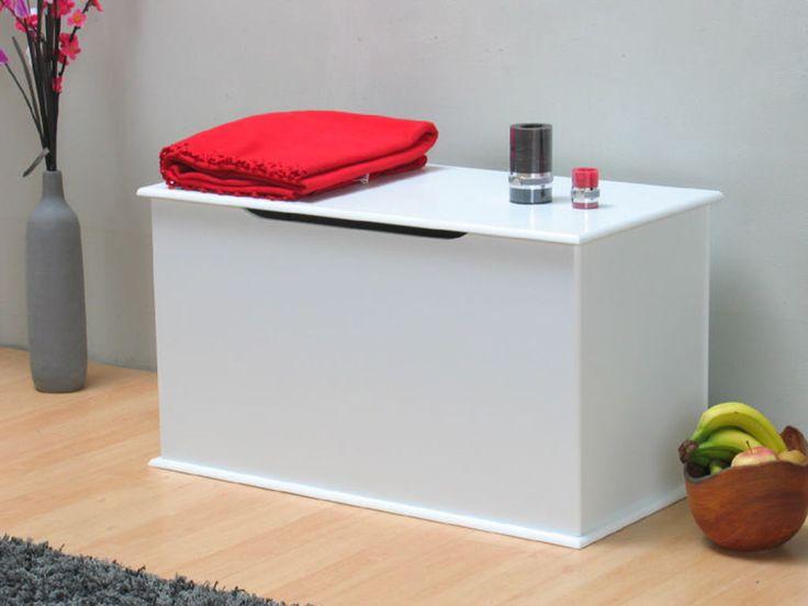 Aufbewahrungstruhe Holztruhe Holzkiste Truhe Kiste Box weiß