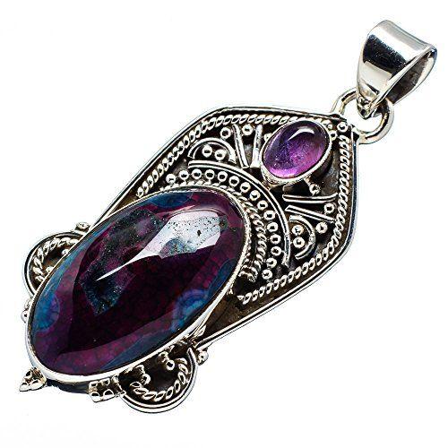 "Ana Silver Co Purple Solar Quartz, Amethyst 925 Sterling Silver Pendant 2"" Ana Silver Co. http://www.amazon.com/dp/B00T67HR4A/ref=cm_sw_r_pi_dp_NnH1ub0RB9NXW"