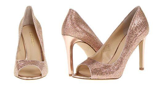 Zapatos para Matrimonio en Tela Brillante Rosada -- Enzo Angiolini via 6pm