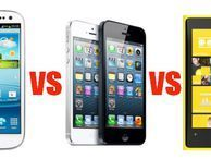 Apple iPhone 5 vs Samsung Galaxy S3 vs Nokia Lumia 920 The iPhone 5 is finally here so we take a look at how it stacks up against two powerhouses: the Samsung Galaxy S3 and Nokia Lumia 920.