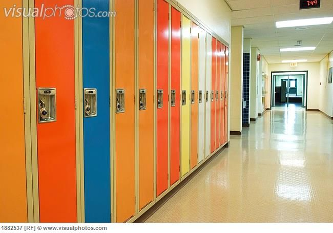 Just by adding different colors to each individual lockers, make the hallways more likable for the students to want to be there. This is right brained because it adds more color and creativity for the students.