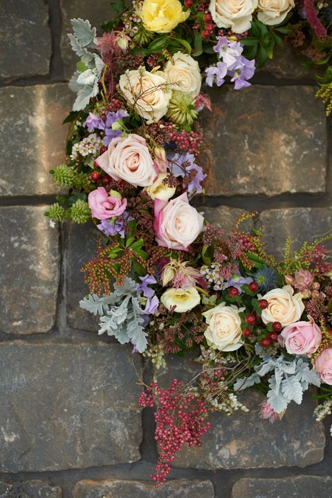 The texture and these colors of this wreath are fabulous. From Gypsy Purple home......