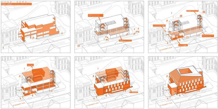 Esquemas e diagramas: 30 exemplos de como otimizar a organização, análise e comunicação do projeto,Edificio de Antropología Tozzer. Image vía Kennedy & Violich Architecture