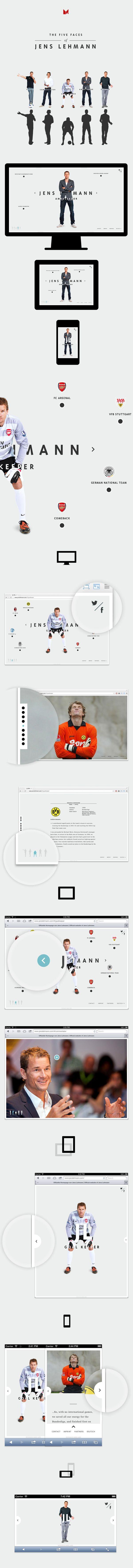 Jens Lehmann - Personal Website by MING Labs, via Behance