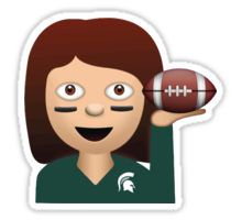 Michigan State Football Emoji Sticker