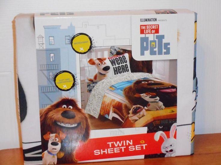 The Secret Life of Pets 3 Pc Twin Sheet Set Sheets Boy or Girl #TheSecretLifeofPets