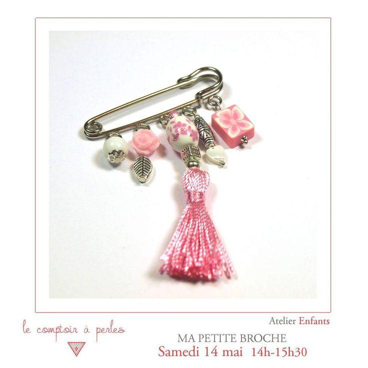 ATELIER ENFANTS - Rien de prévu pour vos enfants ce week-end? Optez pour les loisirs créatifs et la création de bijoux! Au programme une jolie broche à personnaliser soi-même :D Pour réserver --> lien dans la bio #lecomptoiraperles #perles #atelier #workshop #broche #beads #faitmain #handmade #handmadejewelry #beading #rose #pink #creation #créativité #creativity #epingle #instajewels #enfants #kids #Paris #DIY #fashion #customized #jenfiledesperlesetjassume