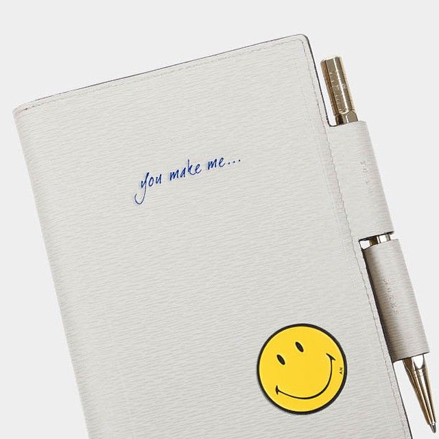 Create the perfect #Valentines gift with bespoke embossing in your handwriting and #AnyaHindmarch @chaosfashiondotcom leather #stickers. Order by Monday for personalisation in time for Valentine's Day. Pictured: the Anya Hindmarch Bespoke two-way #journal #BespokeStories