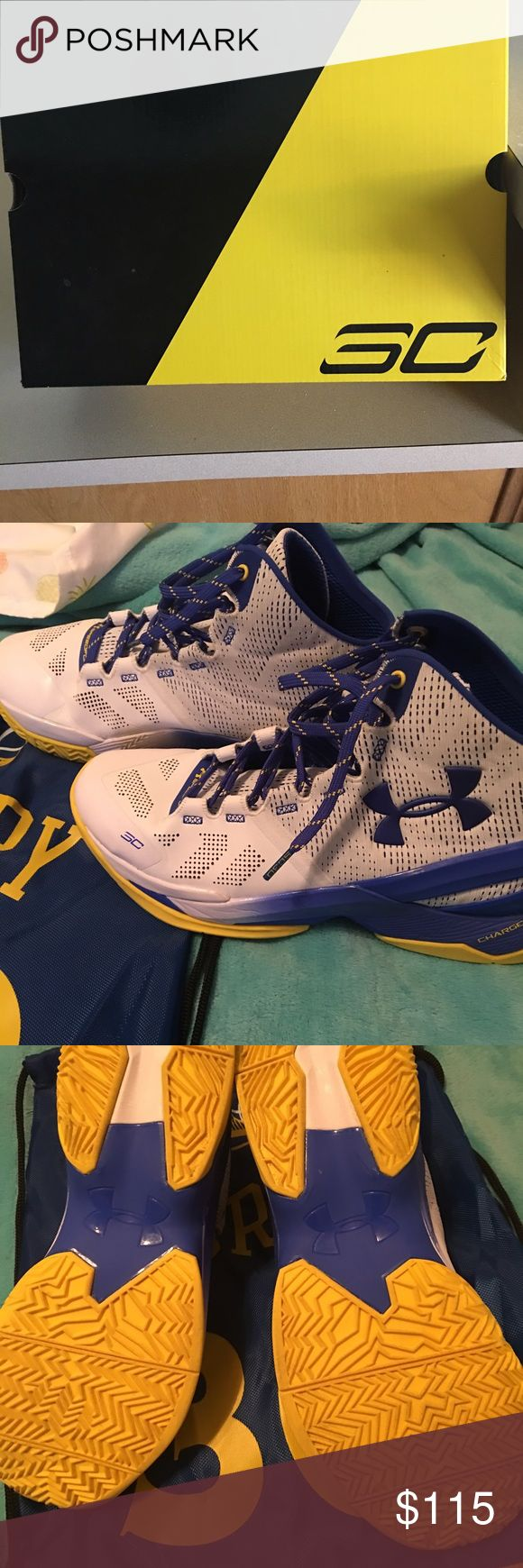 Under Armor Steph Curry MVP 2's Basketball Shoes Gently worn Steph Curry 2's basketball shoes. Only worn on COURT 1 time, like new. Well maintained, always stored in original box or Steph Curry bag. Under Armour Shoes Athletic Shoes