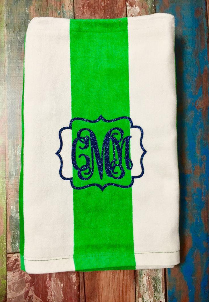 monogrammed beach towels monogrammed gifts bridesmaid gifts monogram beach towels heat transfer - Monogrammed Beach Towels